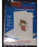 Titan Cross Stitch STOCKING Christmas Card Kit - $4.99