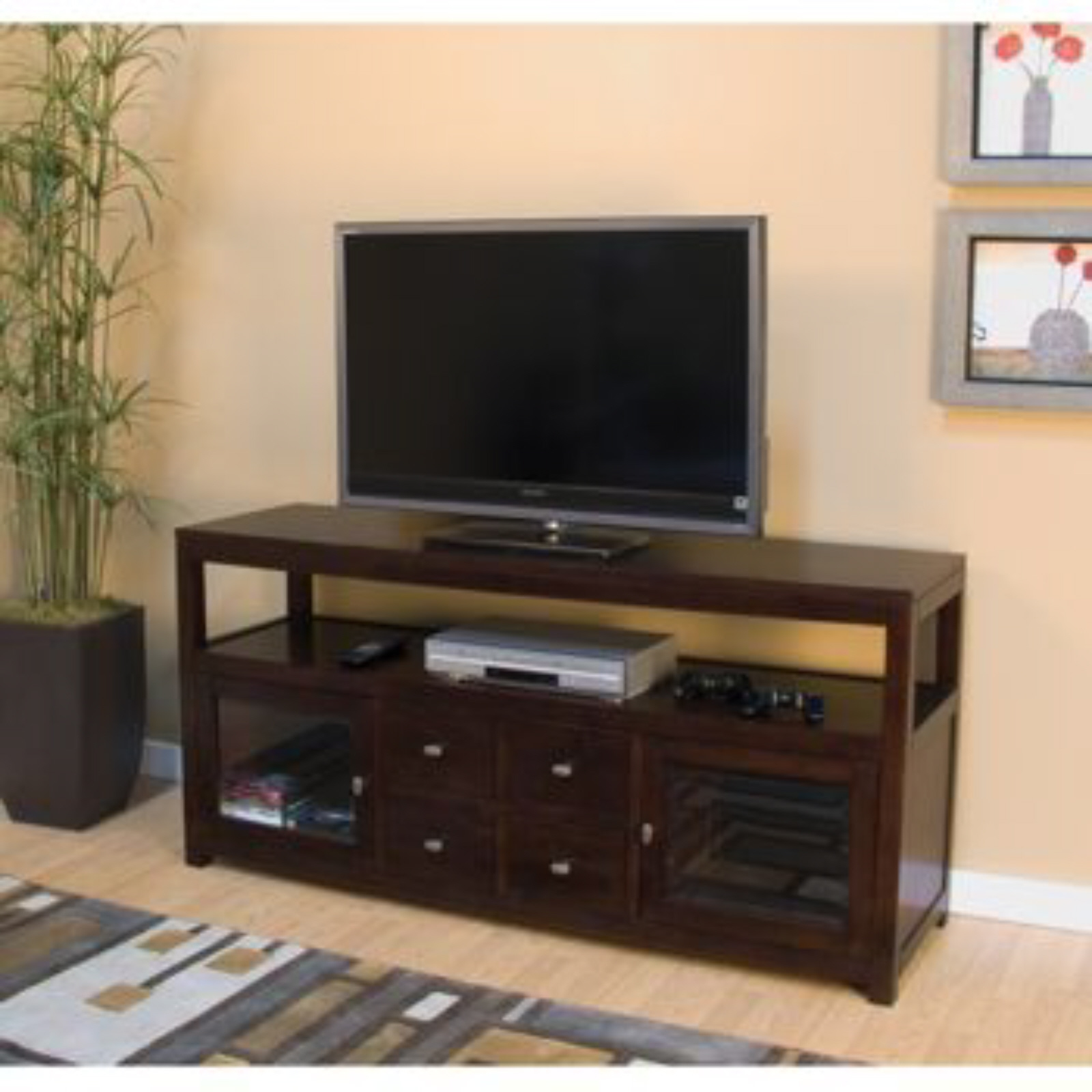 pacifica media console tv stand and 50 similar items. Black Bedroom Furniture Sets. Home Design Ideas