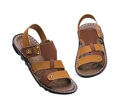 Boy's Sport Sandals Shoes Casual Beach Shoes BROWN, Feet Length 17.4CM