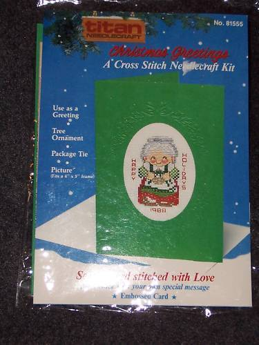 Titan Cross Stitch MRS. CLAUS Christmas Card Kit