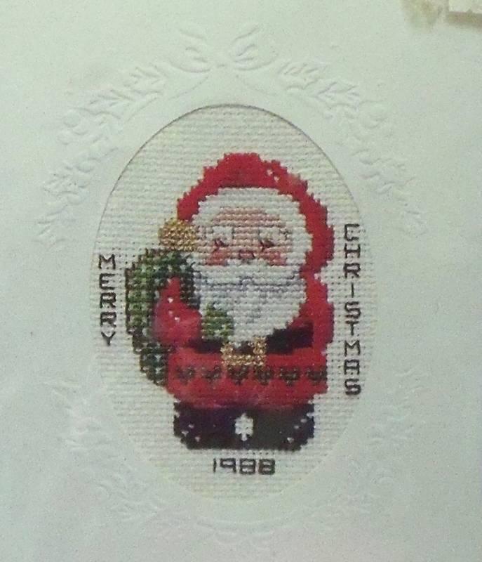 Titan Cross Stitch SANTA Christmas Card Kit