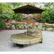 Mainstays Deluxe Orbit Chaise Lounge, Umbrella & Side Table, Seats 2 - $350.99