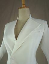 Women's White Suit Jacket White Asymmetrical Collar Boho Wedding Bridal Outfits image 5