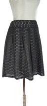 ANN TAYLOR Petites Eyelet Pleated a-Line Skirt, Black NWOT 4 Petite - $13.67