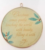 1986 Hallmark Cards Christmas Tree Round Holiday Ornament Holly Vintage ... - $9.89