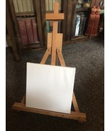 Collapsible Lightweight, Table Or Desk Easel with New canvas and paints - $20.79