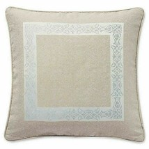 "Waterford Gwyneth Embroidered Euro Sham European Taupe Pale Blue 26x26"" - $24.74"