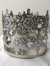 Bath & Body Works White Snowflakes Gems Large 3 Wick Candle Holder Sleeve 14.5OZ - $12.95