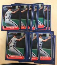 1986 Fleer Steve Carlton HOF  Phillies  #436  Lot of 20 Baseball Cards - $4.90