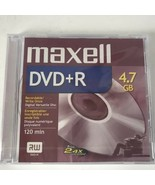 Maxell DVD+R4.7GB UP TO 8X 120Min RW in Jewel Cases NEW - $3.99
