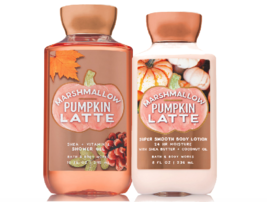 Bath & Body Works Marshmallow Pumpkin Latte Body Lotion + Shower Gel Duo Set - $26.41