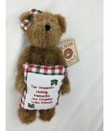 "Boyds Bear Beary Goodfriend Plush 8"" Christmas Pillow Hallmark 2004 9714... - $8.96"