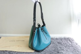 100% Authentic Louis Vuitton Epi Noe BB Bucket Bag Bi Color Blue image 2