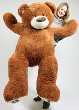 Big 5 Foot Teddy Bear Five Feet Tall Caramel Color Soft with Bigfoot Paw... - $97.10