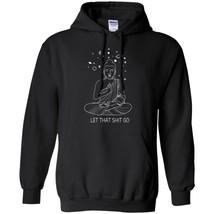 Let That Siht Go Hoodie Sacred Symbols Zen Weed Shiva Hindu Gym Yoga Om ... - $39.55