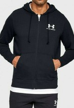 Under Armour Men's Sportstyle Terry FZ Hoodie NEW AUTHENTIC Black 134577... - $54.99