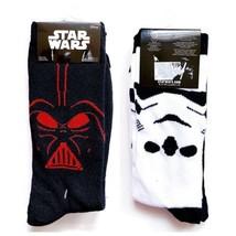 NWT New Disney Star Wars Darrh Vader Storm Trooper Crew Socks Mens Womens - $15.99