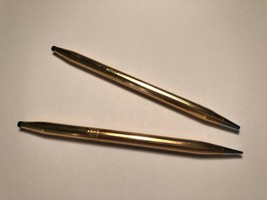 Vintage Cross Pen & Pencil Desk Set WORKING 14k Gold Filled Made in the USA - $69.29