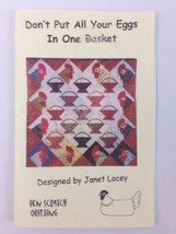 """Don't Put All Your Eggs in One Basket Quilt Sewing Pattern 41"""" x 41"""" Fin... - $9.80"""