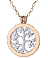 Morella Women Necklace 27.5 Golden Stainless Steel With Amulet And Coin... - $21.37