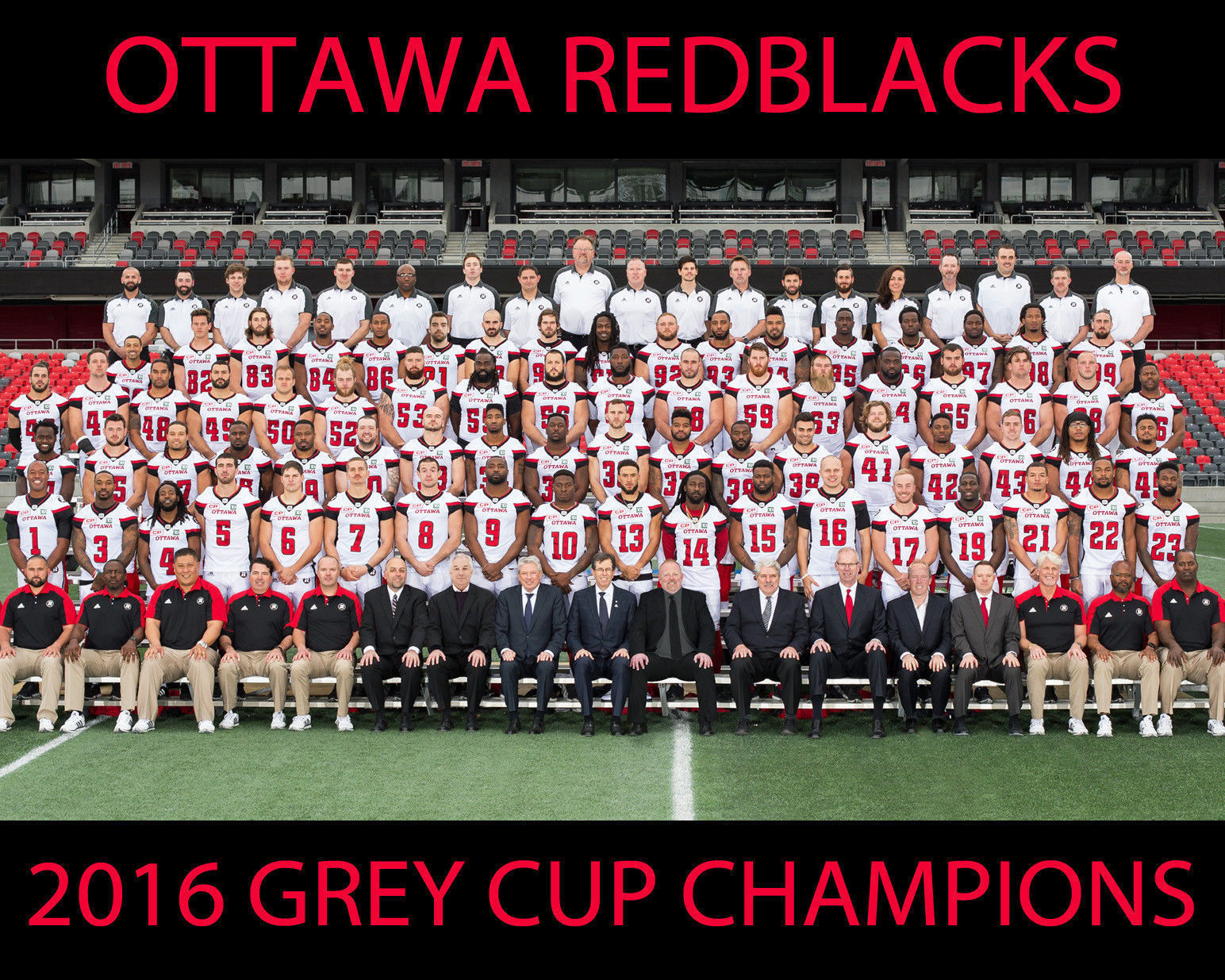Primary image for 2016 OTTAWA REDBLACKS 8X10 TEAM PHOTO FOOTBALL PICTURE CFL GREY CUP CHAMPS