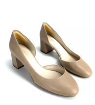 COLE HAAN GRAND OS Beige Leather Slip On Solid Classic Pumps Size 7 B5052 - $39.53