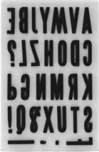 Tim Holtz Cling Foam Upper Block Alphabet Stamp Set #TH93577 image 2