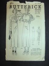 1940's  Vintage Butterick Jacket Frock Dress 6354 Size 14 B32 - $24.49