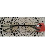Black Color ~ Metal Frame w/Spring Temple ~ +2.00 Tinted Reading Glasses... - $12.38