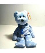 Ty Beanie Babies 1999 Holiday Teddy Ice Blue  - $45.53