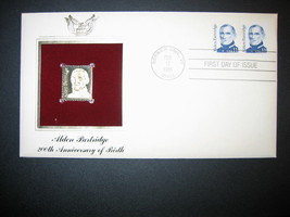 ALDEN PARTRIDGE 200th Anniversary 1985 22kt Gold Golden Replica Cover STAMP - $6.92