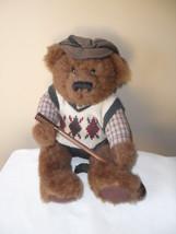 "Russ Golfer Bear  "" Knickers"" Plush Stuffed Animal Toy Golf Club Brown 12"" image 1"