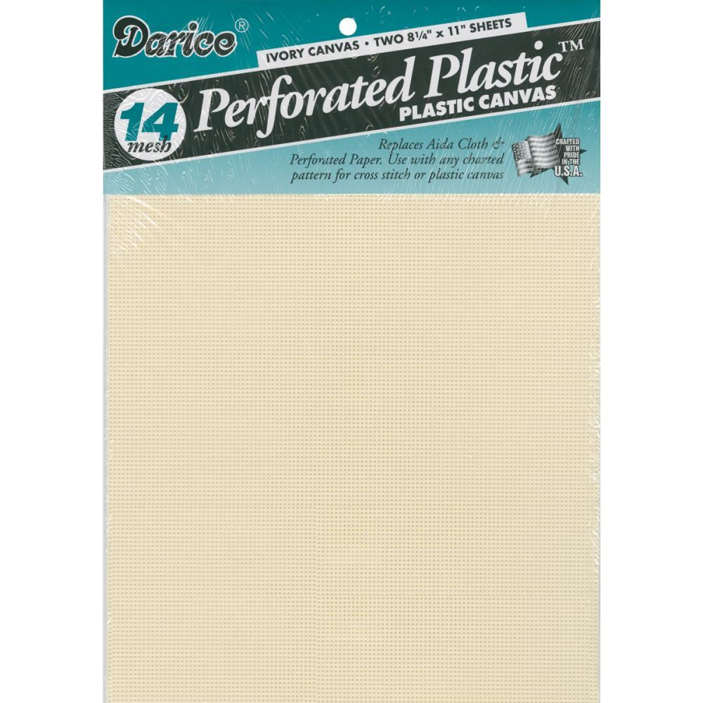 "Primary image for Ivory 14ct perforated plastic 8.5"" x 11"" 2pcs/pkg Darice"