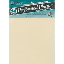 "Ivory 14ct perforated plastic 8.5"" x 11"" 2pcs/pkg Darice  - $3.50"