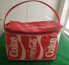 Vintage 1985 Coca Cola vinyl insulated Cooler Atlanta - $45.00