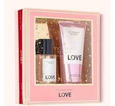 Victoria Secret LOVE Perfume Fragrance Body Mist & Velvet Cream Lotion G... - $27.67