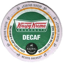 Krispy Kreme Doughnuts DECAF Coffee, 24 count K cups, FREE SHIPPING  - $19.99