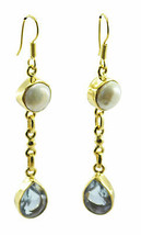 comely Multi Gold Plated Multi Earring Natural casually US gift - $14.84
