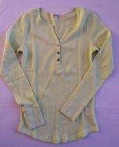 FADED GLORY Henley t.shirt size Small 4-6 Lemon - $6.92