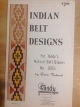 Indian Belt Designs For Tandy's Natural Belt Blanks Book No. 0055 Gene N... - $8.00
