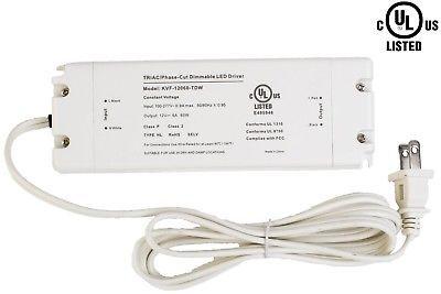 UL Listed 12v 60w LED Light Triac Dimmable Driver Power supply 5A - $46.52