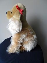 "Circo Cocker Spaniel Puppy Dog Plush Stuffed Target 11""  Tall Tan Red Bows image 3"