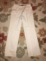 BCBG MAXAZRIA Size 2 Cream Cotton Khaki Straight Leg Pants 2 - $9.99