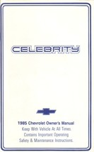 1985 Chevrolet CELEBRITY owner's manual book guide Chevy - $7.99