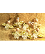 Beaded Chenille ANGEL Christmas Ornaments - Set of 7 - $8.00