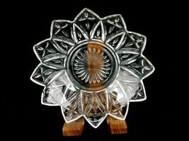 """Federal Glass 5.5"""" Dessert Bowl, 12-Point Star Flower Petal, Crosses, Starburst - $14.65"""