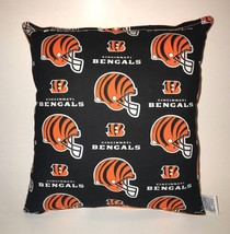 Bengals Pillow Cincinnati Bengals NFL Pillow Handmade in USA - $9.97