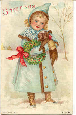 Christmas Greetings 1912 Vintage Post Card