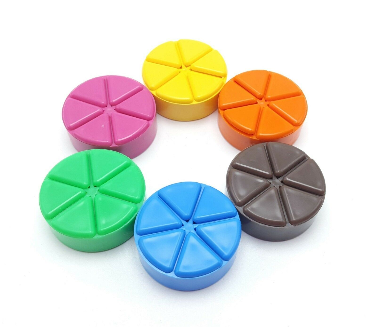 Trivial Pursuit Scoring Pie Wedge Replacement Game Token Pawn Set - $5.99