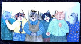 Dressed Cats with Birds  3D Refrigerator Magnet Vintage Styled by Paris Bottman  - $11.99
